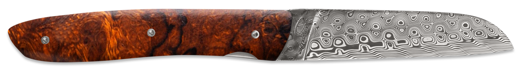 L08 Rose damascus - Ironwood burl