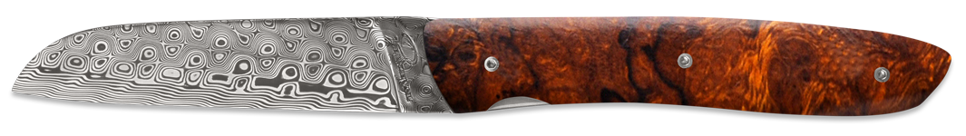 L10 Rose damascus - Ironwood burl