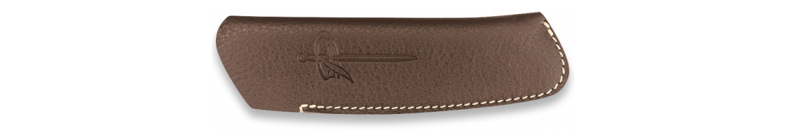 Brown leather sheath - L10