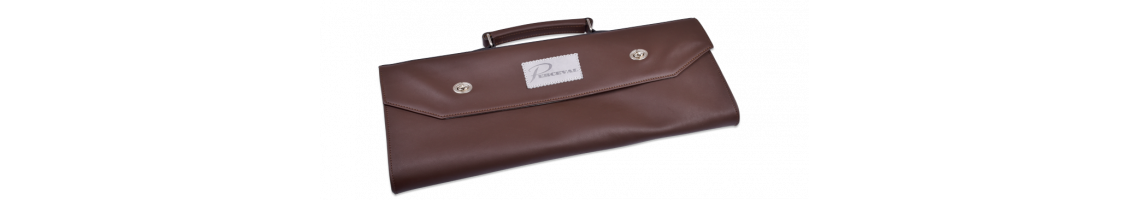 Leather satchel - kitchen knives